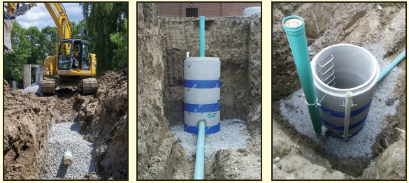 Trenching Sewer Line Watermains